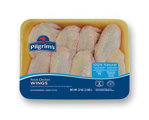 Wings (100% Natural Ingredients) packaged