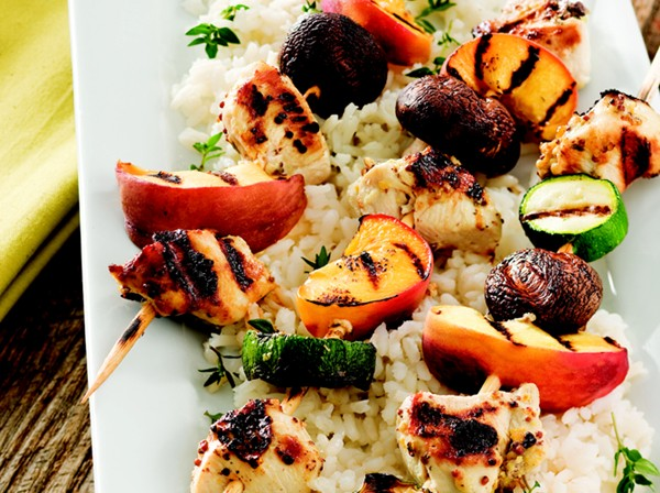 Image for Grilled Chicken and Peach Kabobs
