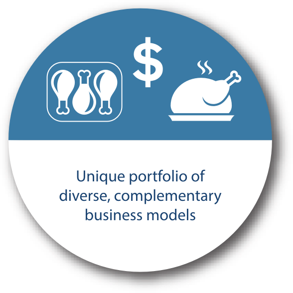 Unique portfolio of diverse, complementary business models